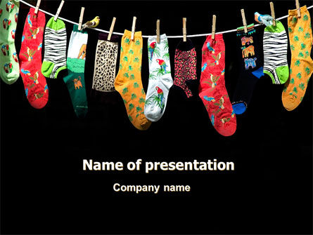 Education & Training: Socks PowerPoint Template #07315