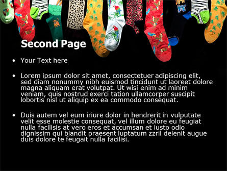 Socks PowerPoint Template, Slide 2, 07315, Education & Training — PoweredTemplate.com