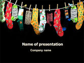 Education & Training: Socks PowerPoint Template #07315