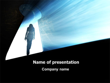 Consulting: Leaving Woman PowerPoint Template #07316