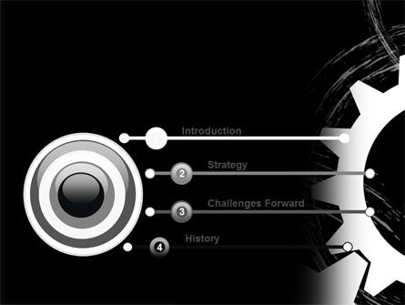 Rotating Wheels PowerPoint Template, Slide 3, 07318, Utilities/Industrial — PoweredTemplate.com