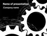 Utilities/Industrial: Rotating Wheels PowerPoint Template #07318