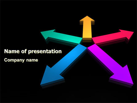 Tendency Direction Free PowerPoint Template, 07323, Consulting — PoweredTemplate.com