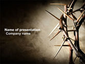 Religious/Spiritual: Thorns PowerPoint Template #07326