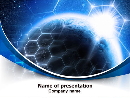 Telecommunication: World Telecom PowerPoint Template #07327