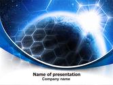 Telecommunication: World Telecom PowerPoint Template #07327