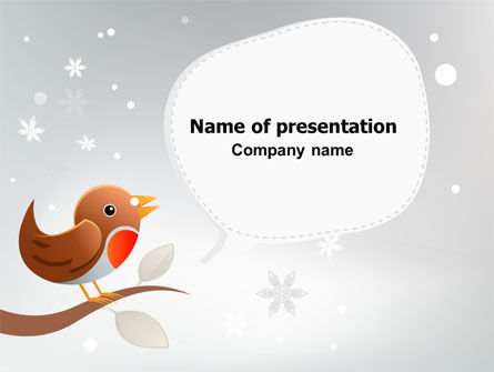 Holiday/Special Occasion: Twitter PowerPoint Template #07328