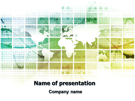 World Mainland Fragments PowerPoint Template