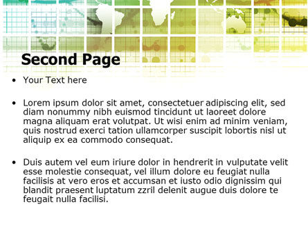 World Mainland Fragments PowerPoint Template Slide 2
