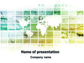 World Mainland Fragments PowerPoint Template#1