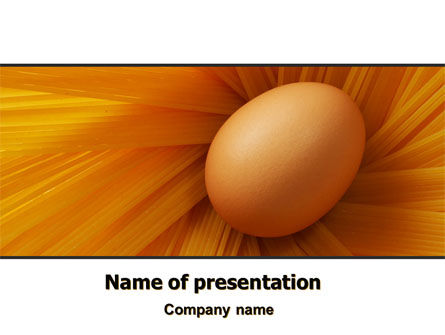 Egg PowerPoint Template, 07332, Business Concepts — PoweredTemplate.com