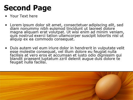 Egg PowerPoint Template, Slide 2, 07332, Business Concepts — PoweredTemplate.com
