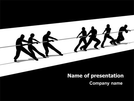 Business Concepts: Team Competition PowerPoint Template #07334