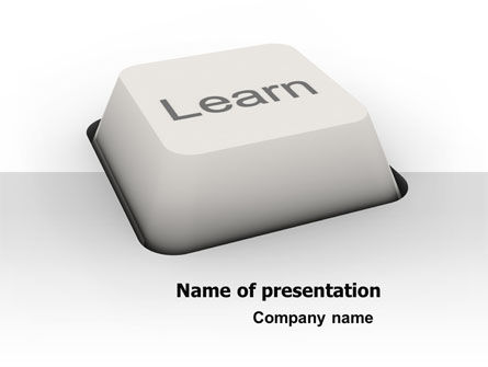 Learn Button PowerPoint Template, 07335, Education & Training — PoweredTemplate.com