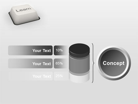 Learn Button PowerPoint Template Slide 11