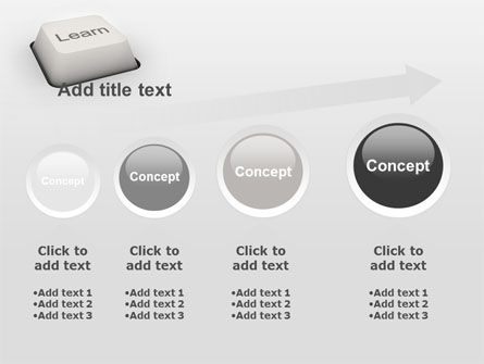 Learn Button PowerPoint Template Slide 13