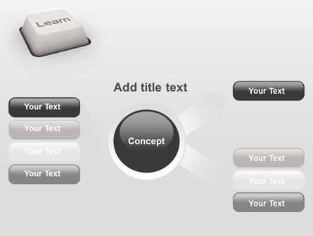 Learn Button PowerPoint Template Slide 14