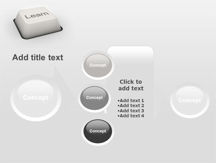 Learn Button PowerPoint Template Slide 17