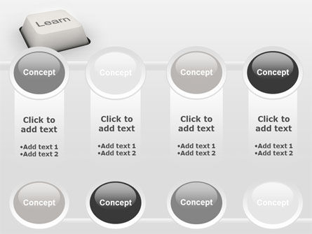 Learn Button PowerPoint Template Slide 18
