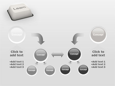 Learn Button PowerPoint Template Slide 19