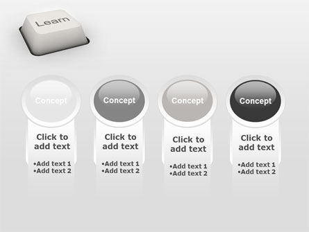 Learn Button PowerPoint Template Slide 5