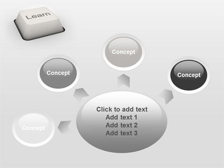 Learn Button PowerPoint Template Slide 7