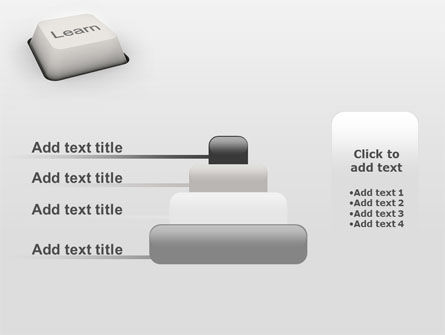 Learn Button PowerPoint Template Slide 8