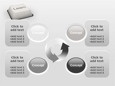 Learn Button PowerPoint Template Slide 9