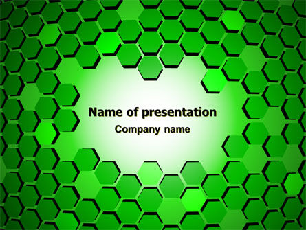 Green Cells PowerPoint Template