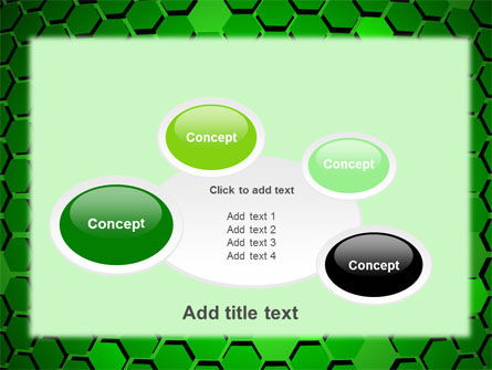 Green Cells PowerPoint Template Slide 16