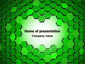 Abstract/Textures: Green Cells PowerPoint Template #07336