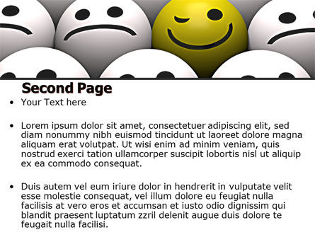Winking Smile PowerPoint Template Slide 2