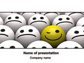 Business Concepts: Winking Smile PowerPoint Template #07337