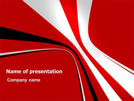 Crookedness PowerPoint Template, 07339, Abstract/Textures — PoweredTemplate.com