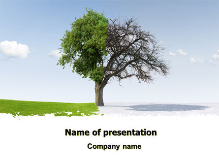 Spring And Winter PowerPoint Template, 07340, Nature & Environment — PoweredTemplate.com