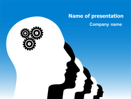 Popular Thinking PowerPoint Template, 07341, Education & Training — PoweredTemplate.com