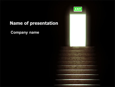 Consulting: Exit Door PowerPoint Template #07342