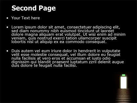 Exit Door PowerPoint Template Slide 2