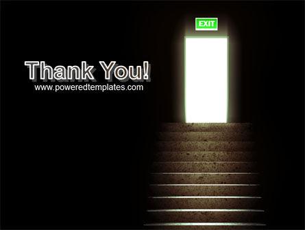 Exit Door PowerPoint Template Slide 20