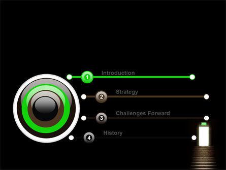 Exit Door PowerPoint Template Slide 3