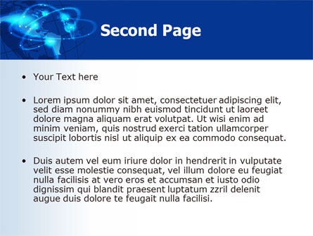 Satellite Connection PowerPoint Template, Slide 2, 07343, Global — PoweredTemplate.com