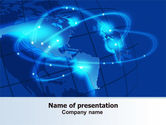 Global: Satellite Connection PowerPoint Template #07343