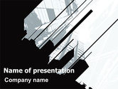 Construction: Abstract Skyscraper Theme PowerPoint Template #07344