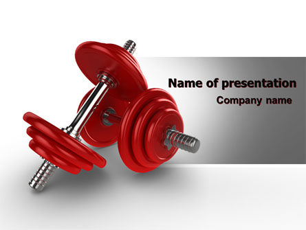 Sports: Dumbbells PowerPoint Template #07345