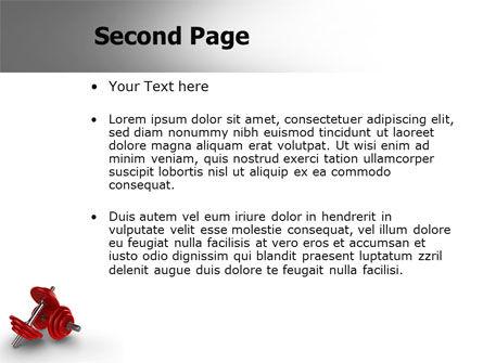 Dumbbells PowerPoint Template, Slide 2, 07345, Sports — PoweredTemplate.com