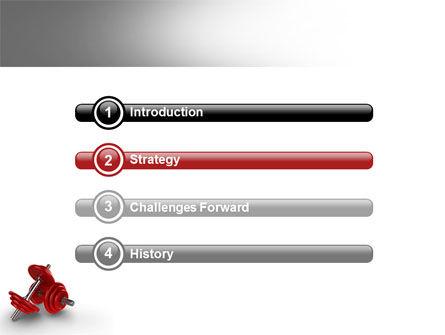 Dumbbells PowerPoint Template, Slide 3, 07345, Sports — PoweredTemplate.com