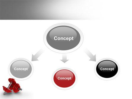 Dumbbells PowerPoint Template, Slide 4, 07345, Sports — PoweredTemplate.com