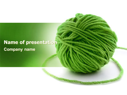Green Thread Clew PowerPoint Template