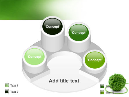 Green Thread Clew PowerPoint Template Slide 12