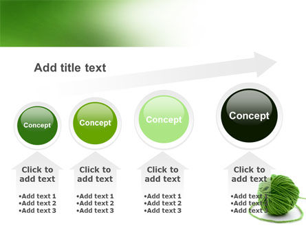 Green Thread Clew PowerPoint Template Slide 13